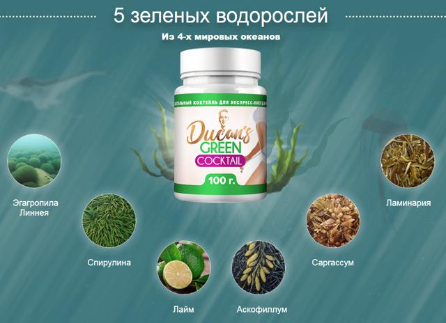 Зелёный коктейль Дюкана: где купить, дозировка, способ примениня
