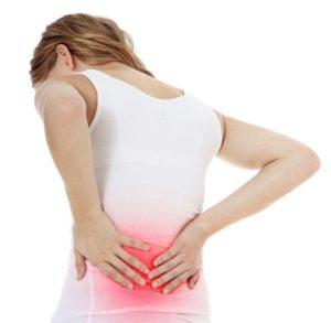 Боли при цистите у женщин, основная локализация: поясница, низ живота, правый и левый бок